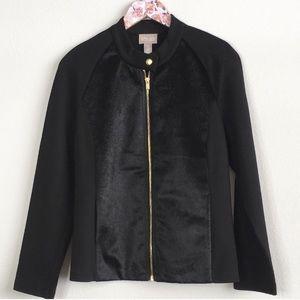 Chico's Faux Fur Black Jacket